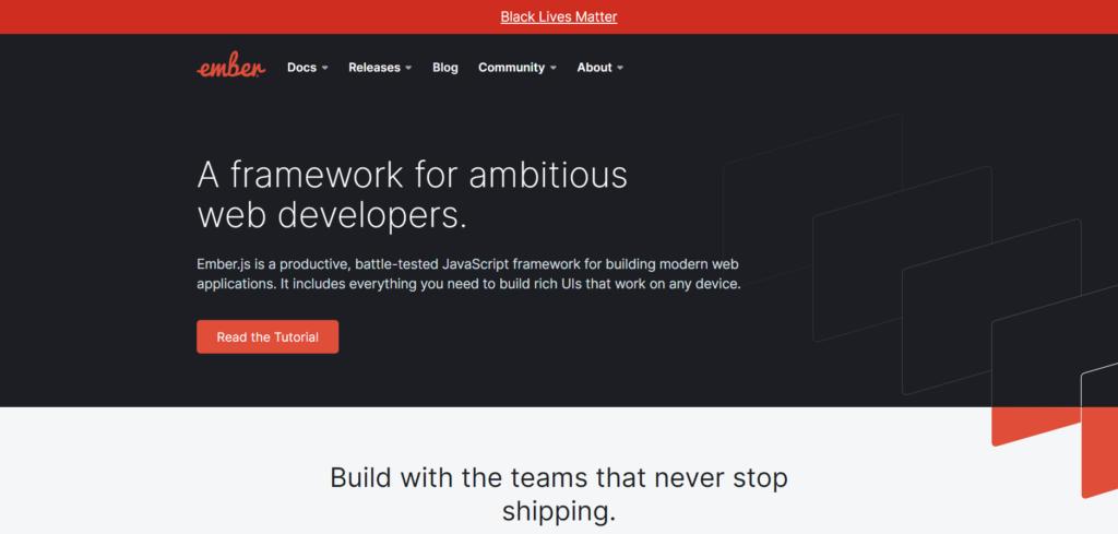 Ember web framework