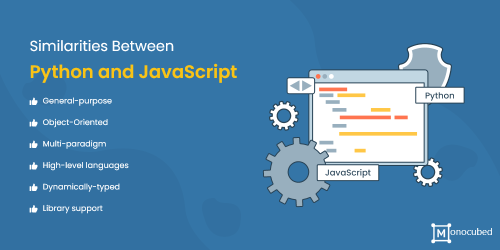 similarities between python and javascript