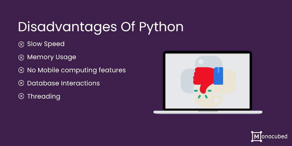 Disadvantages of Python