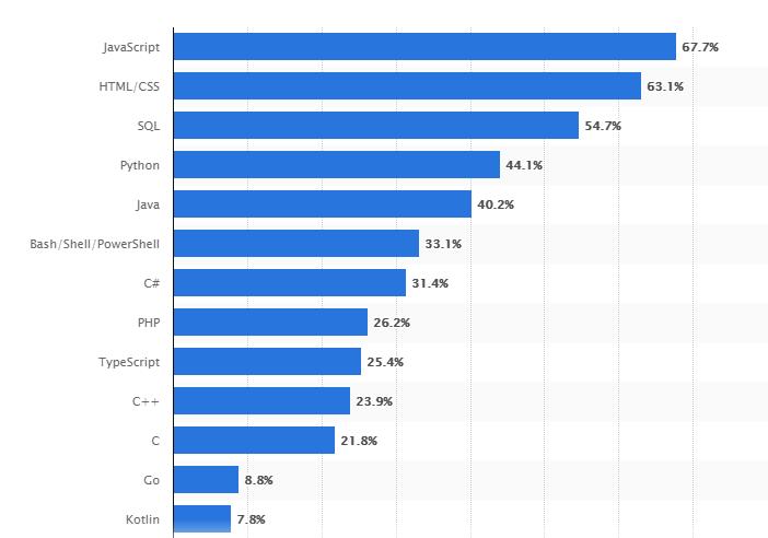 Popular programming languages for web development