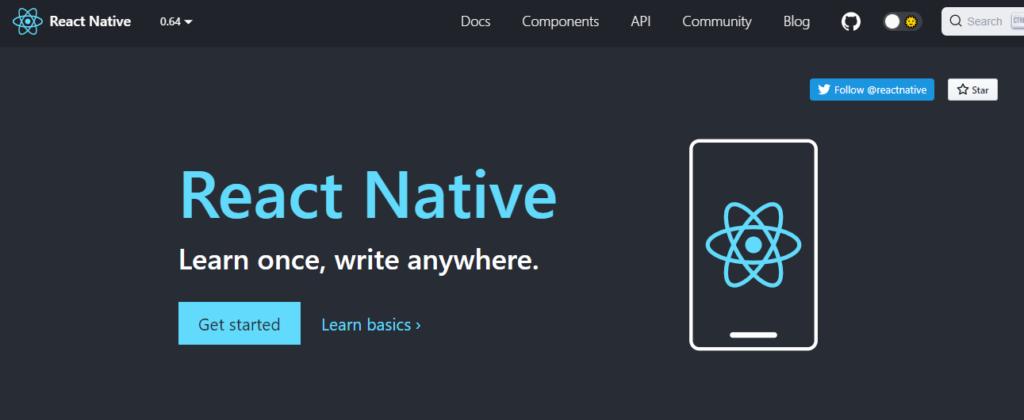 native app development using react
