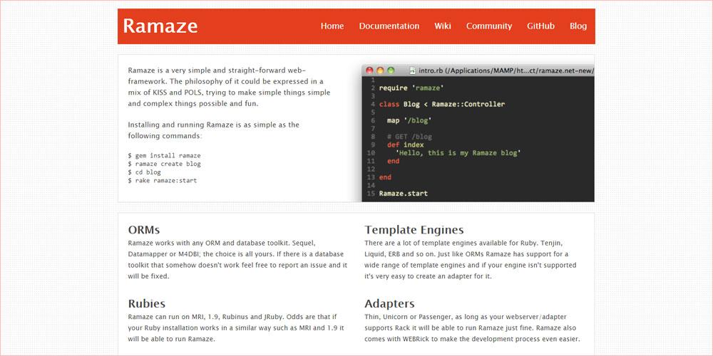 ramaze framework